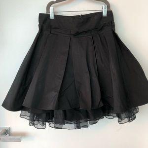 Elizabeth and James black high waist skirt
